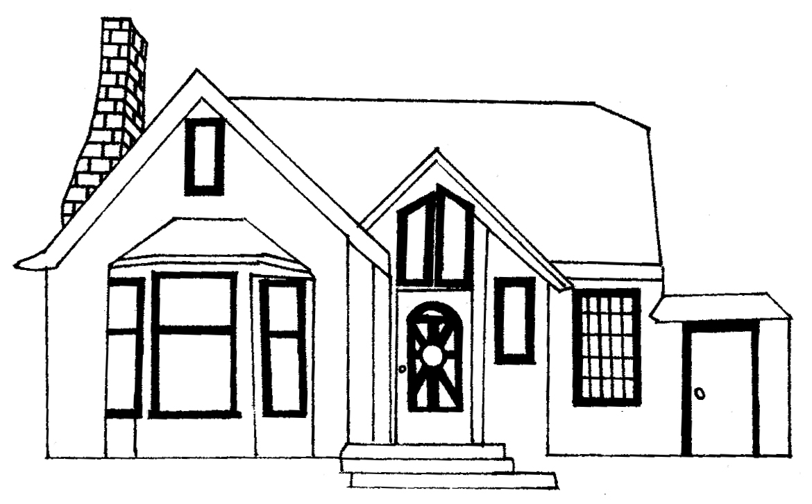Line drawings baya clare artist Draw your house
